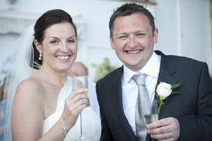 Bride and groom - Linda & Turlough