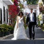 Pilar & Sean enjoy their wedding in a private villa in Cancelada, Spain